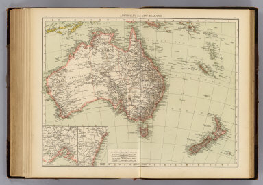 """Australia and New Zealand. (with) Environs of Melbourne. (with) Environs of Sydney. (Published at the office of """"The Times,"""" London, 1895)"""