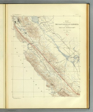 Map of a portion of the Coast Ranges of California showing the San Andreas Rift. Earthquake Investigation Commission. Julius Bien & Co., Lith., N.Y. (Carnegie Institution of Washington. 1908)