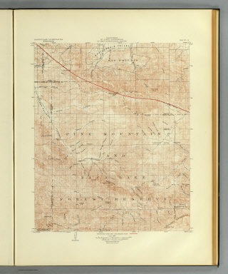 California, Mt. Pinos quadrangle of the U.S. Geological Survey showing the San Andreas Rift. Earthquake Investigation Commission. (Carnegie Institution of Washington. 1908)