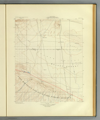 California, Palmdale quadrangle of the U.S. Geological Survey showing the San Andreas Rift. Earthquake Investigation Commission. A. Hoen & Co., Baltimore. (Carnegie Institution of Washington. 1908)