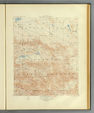California, San Gorgonio quadrangle of the U.S. Geological Survey showing the San Andreas Rift and the Mission Creek Fault. Earthquake Investigation Commission. Andrew B. Graham Co., Lithographers, Washington, D.C. (Carnegie Institution of Washington. 1908)