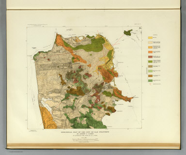 Geological map of the city of San Francisco by Andrew C. Lawson. To accompany the paper by H.O. Wood. Earthquake Investigation Commission. A. Hoen & Co. (Carnegie Institution of Washington. 1908)
