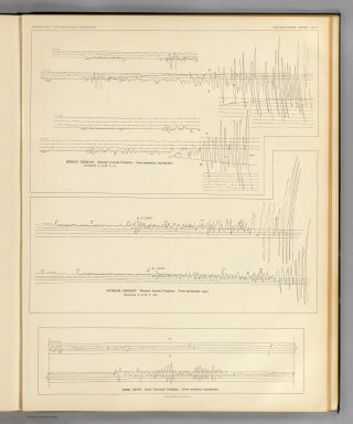 Seismograms - sheet no. 5. Earthquake Investigation Commission. Photo lith. by A. Hoen & Co., Baltimore, Md. (Carnegie Institution of Washington. 1908)