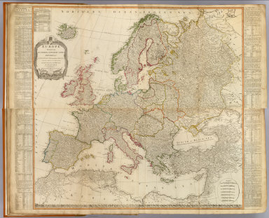 (Composite of) Europe divided into its empires, kingdoms, states, republics, &c. By Thos. Kitchin, Hydrographer to the King, with many additions and improvements from the latest surveys and observations of Mr. d'Anville. London, Published by Laurie & Whittle, No. 53, Fleet Street, 12th May, 1795.