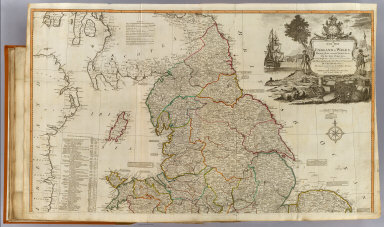 A new map of England & Wales. (North half). Drawn from several surveys &c. on the new projection : corrected from astronomical observations & the places marked where the observatns. were made. By Thos. Kitchin, Geogr. The canals inserted to 1792 by J. Phillips, Surveyor. London, Published by Laurie & Whittle, No. 53, Fleet Street, as the act directs, 12th May, 1794.