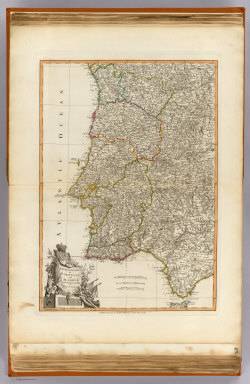 The kingdoms of Portugal and Algarve, from Zannoni's map by J. Lodge, Geographer. Published 12th May 1794 by Laurie & Whittle, 53, Fleet Street, London.