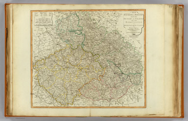 The Kingdom of Bohemia with the Dutchy of Silesia and the marquisates of Moravia and Lusatia. By Thomas Jefferys, Geographer to the King. London, Published by Laurie & Whittle, 53, Fleet Street, 12th May, 1794.
