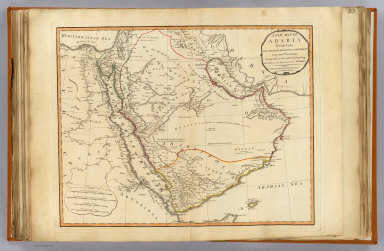 A new map of Arabia divided into its several regions and districts. From Monsr. d'Anville, Geographer to the most Christian King with additions and improvements from Mr. Niebuhr. London, Published by Laurie & Whittle, 53 Fleet Street, as the act directs 12th May, 1794.