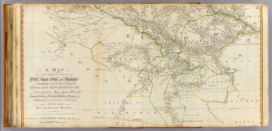 A map of the provinces of Delhi, Agrah, Oude, and Ellahabad, comprehending the countries lying between Delhi, and the Bengal Provinces. (South half). Surveyed by Major James Rennell, Surveyor General to the Honourable East-India Company, and published by order of the court of directors of said company. By Andrew Dury, published 12th May, 1794 by Laurie & Whittle, 53, Fleet Street, London. Wm. Haydon sculpt.