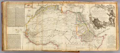 Africa, with all its states, kingdoms, republics, regions, islands, &ca. (North half). Improved and inlarged from d'Anville's map, to which have been added the discoveries of Parke, Vaillant, Brown &c. Also a particular chart of the Gold Coast, wherein are distinguished all the European forts and factories, by S. Boulton: and also a summary description relative to the trade and natural produce, manners and customs of the African continent and islands. London, Published by Laurie & Whittle, No. 53, Fleet-Street, as the act directs 12th May, 1800.