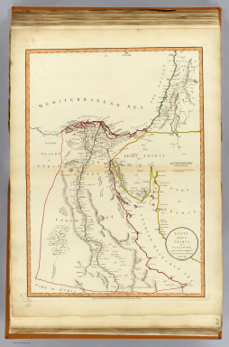 Egypt with part of Arabia and Palestine. Compiled from the draughts of the Scientific Institute established at Cairo, 1800. By Josh. Enouy, Geogr. London, Published 12th Augt. 1801, by Laurie & Whittle, No. 53, Fleet Street, London.
