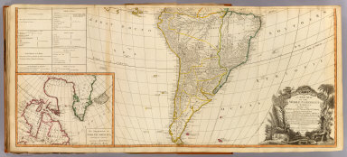 A new map of the whole continent of America, divided into north and south and West Indies. (South half). (with) The supplement to North America containing the countries adjoining to Baffins & Hudsons bays. Wherein are exactly described the United States of North America as well as the several European possessions according to the Preliminaries of Peace signed at Versailles Jan. 20, 1783. Compiled from Mr. d'Anville's maps of that continent, with the addition of the Spanish discoveries in 1775 to the north of California & corrected in the several parts belonging to Great Britain, from the original materials of Governor Pownall, MP. London, Publish'd by Laurie & Whittle, No. 53, Fleet Street, as the act directs 12th May, 1794.