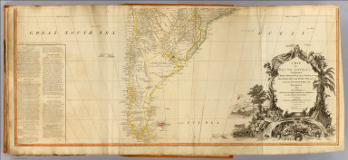 A map of South America containing Tierra-Firma, Guayana, New Granada, Amazonia, Brasil, Peru, Paraguay, Chaco, Tucuman, Chili and Patagonia, from Mr. d'Anville with several improvements and additions, and the newest discoveries. (South half). London, Published by Laurie & Whittle, No. 53 Fleet Street, as the act directs 12th May, 1794.