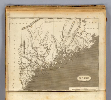 Maine. Drawn by S. Lewis. Engd. by Hooker. (Published by John Conrad & Co., Philadelphia. 1804)