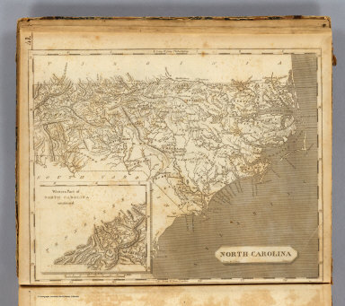 North Carolina. Drawn by S. Lewis. Tanner sc. (Published by John Conrad & Co., Philadelphia. 1804)