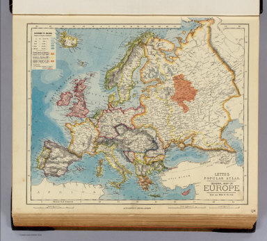 Europe. / Letts, Son & Co. / 1883