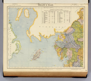 Watershed map of England & Wales. No. 1. Letts's popular atlas. Letts, Son & Co. Limited, London. (1883)
