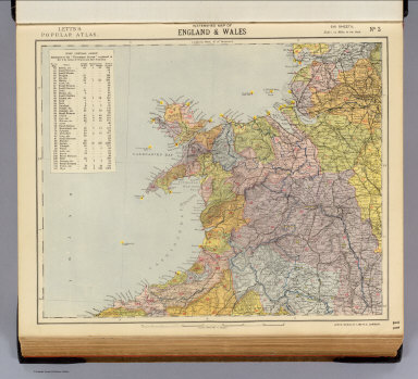 Watershed map England, Wales 3. / Letts, Son & Co. / 1883