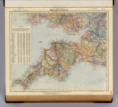 Watershed map of England & Wales. No. 5. Letts's popular atlas. Letts, Son & Co. Limited, London. (1883)