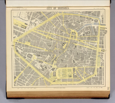 City of Brussels. Letts's popular atlas. Letts, Son & Co. Limited, London. (1883)