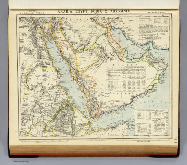 Arabia, Egypt, Nubia, Abyssinia. / Letts, Son & Co. / 1883