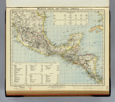 Mexico South, Central America. / Letts, Son & Co. / 1883
