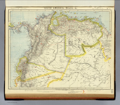South America 1. / Letts, Son & Co. / 1883