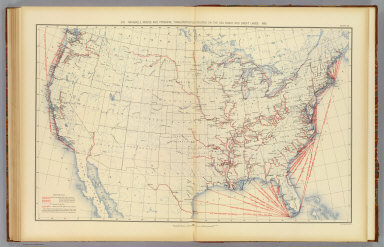 370. Navigable rivers and principal transportation routes on the sea coast and Great Lakes: 1890. Julius Bien & Co. Lith., N.Y. (1898)