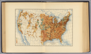 Density of increase of population of the United States 1890 to 1900. Compiled by Henry Gannett, Geographer. (United States Census Office, 1903). Julius Bien & Co., N.Y.