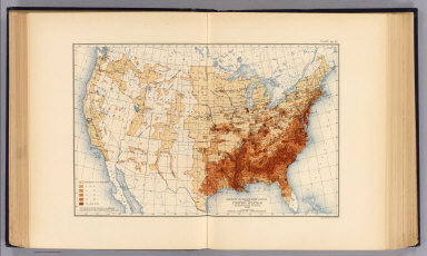 Density of Negro population of the United States at the twelfth census, 1900. Compiled by Henry Gannett, Geographer. (United States Census Office, 1903). Julius Bien & Co., N.Y.