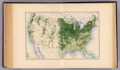 Production of oats per square mile at the twelfth census, 1900. Compiled by Henry Gannett, Geographer. (United States Census Office, 1903). Julius Bien & Co., N.Y.
