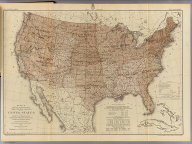 Sketch indicating a distribution of the territorial domain of the United States into districts favorable to the operations of parties prosecuting general government surveys. Prepared under the direction of 1st. Lieut. Geo. M. Wheeler, Corps of Engineers, U.S. Army. 1879. Originally devised January 1st 1875. U.S. Geographical Surveys West of the 100th Meridian. (1889)