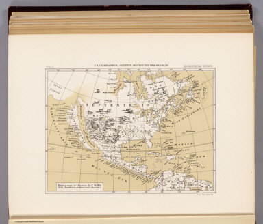 From a map of America by F. De Wit. Folio, Amsterdam, without date, about 1670. Julius Bien, Photo-lith. U.S. Geographical Surveys West of the 100th Meridian. (1889)