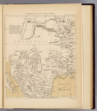 From map of North America by John Senex, F.R.S. 1710. Reduced. Julius Bien, Photo-lith. U.S. Geographical Surveys West of the 100th Meridian. (1889)