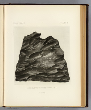 Rock carved by the Colorado. (1875)