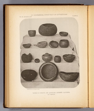 Vessels of steatite and serpentine, Southern California. The Heliotype Printing Co., 220 Devonshire St., Boston. U.S. Geographical Surveys West of the 100th Meridian. (1879)