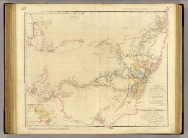 Map of the discoveries in Australia, copied from the latest M.S. surveys in the Colonial Office. By permission dedicated to the right Honble. Viscount Goderich, H.M. principal Secretary of State for the Colonies and President of the Royal Geographical Society, by his lordships obliged servant J. Arrowsmith. (with) The colony of Western Australia ... London, pubd. 15 Feby. 1834 by J. Arrowsmith, 35 Essex Street, Strand.