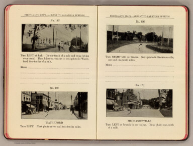 Photo-auto maps--Albany to Saratoga Springs. No. 14C. (Waterford). No. 15C. Waterford. No. 16C. (Waterford). No. 17C. Mechanicsville. (Compiled by Gardner S. Chapin and Arthur H. Schumacher. Copyright, 1907, by G.S. Chapin, Chicago. Published by the Motor Car Supply Co. ... The Automobile Supply Co. ... Chicago, Ill.)
