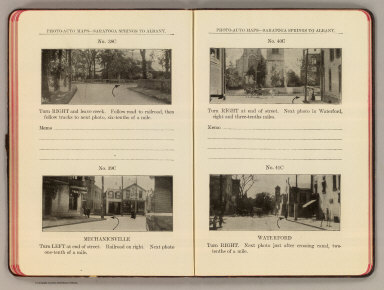 Photo-auto maps--Saratoga Springs to Albany. No. 38C. (Mechanicsville). No. 39C. Mechanicsville. No. 40C. (Mechanicsville). No. 41C. Waterford. (Compiled by Gardner S. Chapin and Arthur H. Schumacher. Copyright, 1907, by G.S. Chapin, Chicago. Published by the Motor Car Supply Co. ... The Automobile Supply Co. ... Chicago, Ill.)