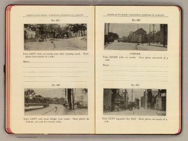 Photo-auto maps--Saratoga Springs to Albany. No. 42C ... 43C. (Waterford). No. 44C. Cohoes. No. 45C. (Cohoes. Compiled by Gardner S. Chapin and Arthur H. Schumacher. Copyright, 1907, by G.S. Chapin, Chicago. Published by the Motor Car Supply Co. ... The Automobile Supply Co. ... Chicago, Ill.)