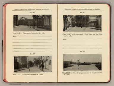 Photo-auto maps--Saratoga Springs to Albany. No. 46C ... No. 49C (Cohoes. Compiled by Gardner S. Chapin and Arthur H. Schumacher. Copyright, 1907, by G.S. Chapin, Chicago. Published by the Motor Car Supply Co. ... The Automobile Supply Co. ... Chicago, Ill.)