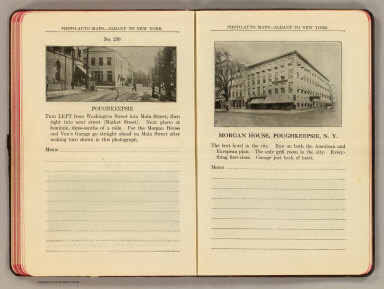 Photo-auto maps--Albany to New York. No. 250. Poughkeepsie. Morgan House, Poughkeepsie, N.Y. (Compiled by Gardner S. Chapin and Arthur H. Schumacher. Copyright, 1907, by G.S. Chapin, Chicago. Published by the Motor Car Supply Co. ... The Automobile Supply Co. ... Chicago, Ill.)