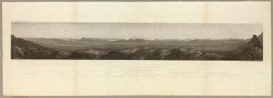 Valley of the Humboldt River at Lassen's Meadows. June 9th at 3 P.M. from a peak on the western Humboldt River range. C. Schumann from F.W. Egloffstein. Selmar Siebert's Engraving & Printing Establishment, Washington, D.C. U.S.P.R.R. Exp. & Surveys 41st Parallel. Expl. by Lieut. Beckwith. Vol. II.