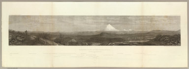 Northern Slopes of the Sierra Nevada. June 30th at 9 A.M. view towards the West 1854. C. Schumann from F.W. Egloffstein. Selmar Siebert's Engraving & Printing Establishment, Washington, D.C. U.S.P.R.R. Exp. & Surveys 41st Parallel. Expl. by Lieut. Beckwith. Vol. II.