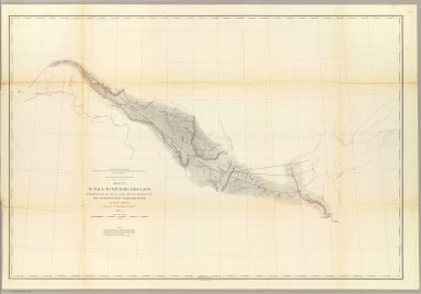 St. Paul to Riviere Des Lacs, from Explorations and Surveys made under the direction of the Hon. Jefferson Davis Secretary of War by Isaac I. Stevens, Governor of Washington Territory. 1853-4. Explorations and surveys for a railroad route from the Mississippi River to the Pacific Ocean. War Department. Route near the 47th and 49th parallels. Map No. 1.