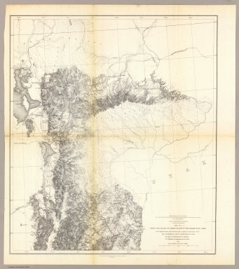 From the Valley of Green River to the Great Salt Lake, from Explorations and Surveys made under the direction of the Hon. Jefferson Davis Secretary of War by Capt. E.G. Beckwith, 3d. Artillery. F.W. Egloffstein, Topographer for the Route. 1855. Explorations and surveys for a railroad route from the Mississippi River to the Pacific Ocean. War Department. Route near the 41st Parallel. Map No. 1. Selmar Siebert's Engraving & Printing Establishment. Washington, D.C.