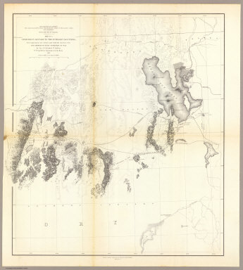 From Great Salt Lake to the Humboldt Mountains, from Explorations and Surveys made under the direction of the Hon. Jefferson Davis Secretary of War by Capt. E.G. Beckwith, 3d. Artillery. F.W. Egloffstein, Topographer for the Route. 1855. Explorations and surveys for a railroad route from the Mississippi River to the Pacific Ocean. War Department. Route near the 41st Parallel. Map No. 2. Selmar Siebert's Engraving & Printing Establishment. Washington, D.C.