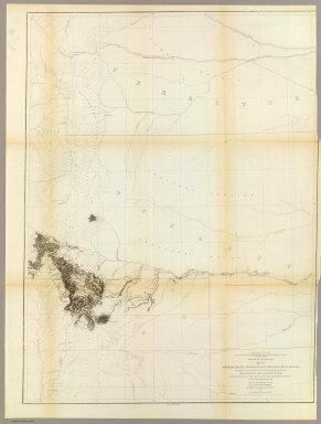 From the Santa Fe Crossing to the Coo-che-to-pa Pass, from Explorations and Surveys made under the direction of the Hon. Jefferson Davis Secretary of War by Capt. J.W. Gunnison. Topl. Engrs. assisted by Capt. E.G. Beckwith 3d Artillery. R.H. Kern Topographer in the field. Map made under the supervision of Capt. E.G. Beckwith 3d Artillery by F.W. Egloffstein, Topographer for the Route. 1855. Explorations and surveys for a railroad route from the Mississippi River to the Pacific Ocean. War Department. Route near the 38th & 39th Parallels. Map No. 3. Engr. by Selmar Siebert.