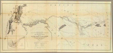 From Fort Smith to the Rio Grande from explorations and surveys made under the direction of the Hon. Jefferson Davis, Secretary of War by Lieut. A.W. Whipple, Topogl. Engrs. and Lieut. J.C. Ives, Topogl. Engrs. A.H. Campbell, Civil Eng. and Surveyor, Asst. Surveyors: Wm. White Jr., N.H. Hutton, and J.P. Sherburne. 1853-4. Explorations and Surveys for a Rail Road Route from the Missisippi (sic) River to the Pacific Ocean, War Department, Route Near the 35th Parallel, Map No. 1. Engr. by Selmar Siebert.