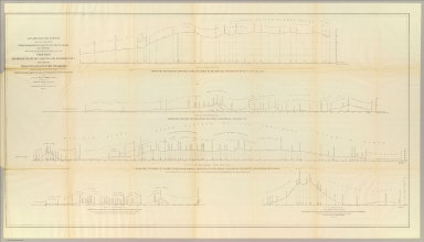 Profiles from San Francisco Bay to Los Angeles, Cala. and from the Pimas Villages to Fort Fillmore from Explorations and Surveys made under the direction of The Hon. Jefferson Davis, Secretary of War by Lieut. John G. Parke, Topl. Engrs., assisted by Albert H. Campbell, Civil Engineer and N.H. Hutton, H. Custer and G.G. Garner, assts. 1854 & 55. Explorations and Surveys for a Rail Road Route from the Mississippi River to the Pacific Ocean. War Department. Route near the 32d parallel & coast route, Cala.